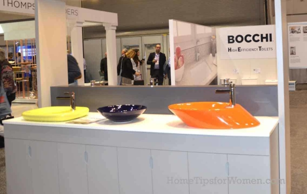 similar to the brilliant & bold appliance colors, home color trends are moving into the bathroom too