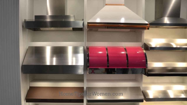 while most range hoods are neutral in color, with the new home color trends, it's now possible to get a colorful hood