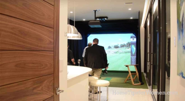 when it's raining, you can still play golf indoors
