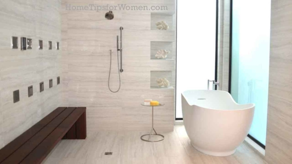 home design trends include much larger, spa like bathrooms