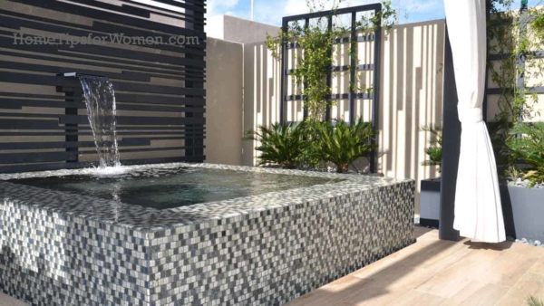 Outdoor living ideas are expanding past the outdoor kitchen, to focus on the master bathroom