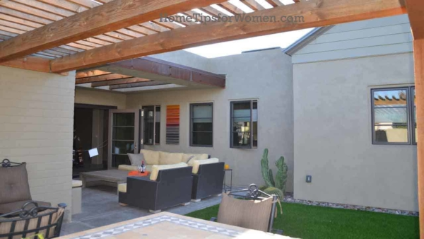 consider a courtyard when looking for outdoor living ideas