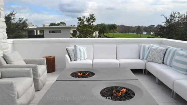 hmm, firepits on a rooftop with lots of wind might get tricky